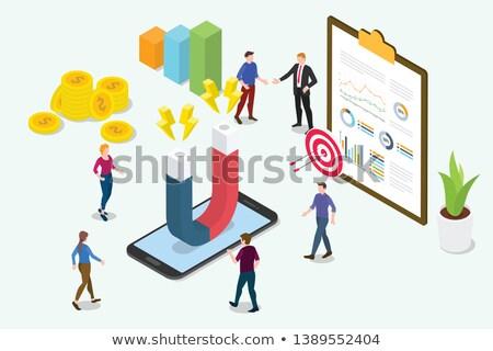 Clipboard with Conversion Marketing Concept. 3D. Stock photo © tashatuvango