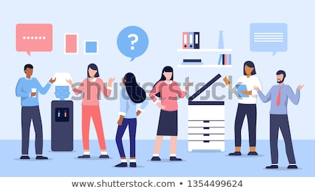 Woman standing by water cooler Stock photo © IS2