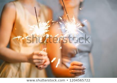 Kettő fiatal lányok gyermek éjszaka jókedv Stock fotó © IS2