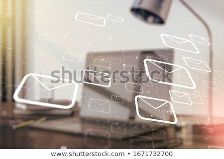 email · marketing · laptop · konferencia · előcsarnok · 3D - stock fotó © tashatuvango