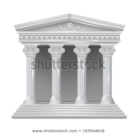 greek temple with columns and roof vector illustration of ancie stock photo © popaukropa