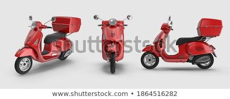 небольшой красный мотоцикле римской улице Италия Сток-фото © Givaga