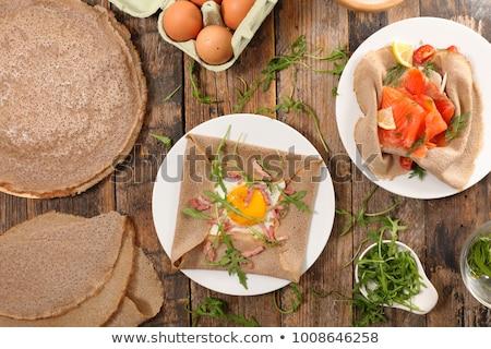Crepe háttér szakács ebéd rakéta barna Stock fotó © M-studio