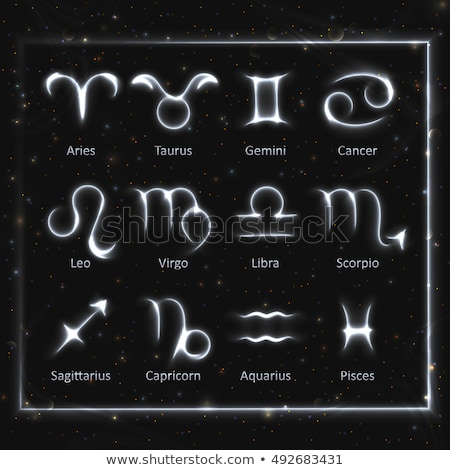 Zodiac signs glowing collection Stock photo © Sonya_illustrations