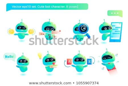 AI Cartoon Text Stock photo © blamb