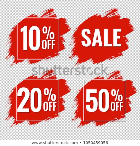Sale Poster With Red Blot Stock photo © adamson