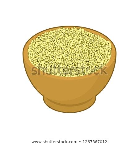 Tigela isolado madeira prato grão Foto stock © MaryValery