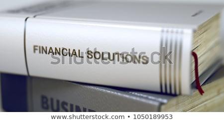 Buch Titel finanziellen Lösungen 3D Stock foto © tashatuvango