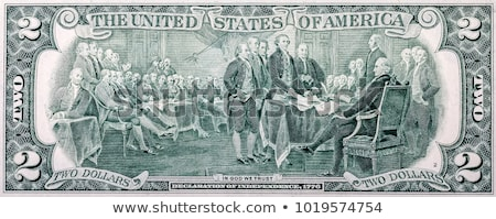 signing declaration of independence from us two dollar bill macr stock photo © vlad_star