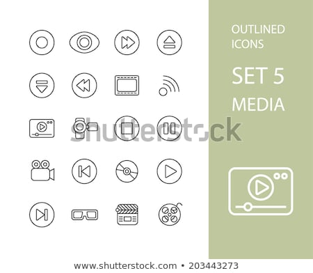 outline icons thin flat design modern line stroke style stock photo © sidmay