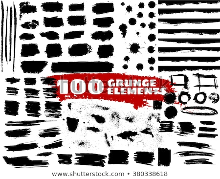 Grunge square. Splashes and smears. Vector illustration Stock photo © MaryValery