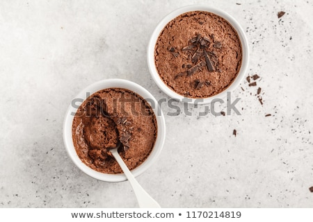 chocolate mousse, top view Stock photo © M-studio