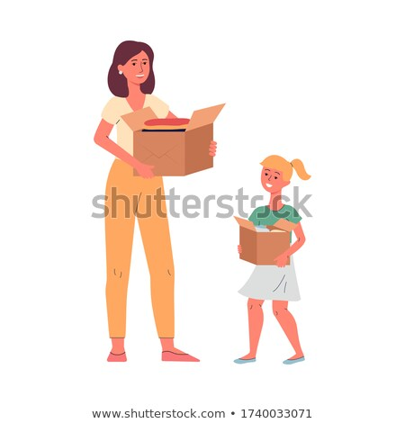 Mother and daughter sharing recycling Stock photo © IS2