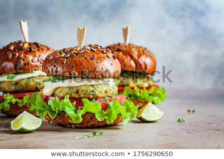 homemade burgers with falafel Stock photo © glorcza