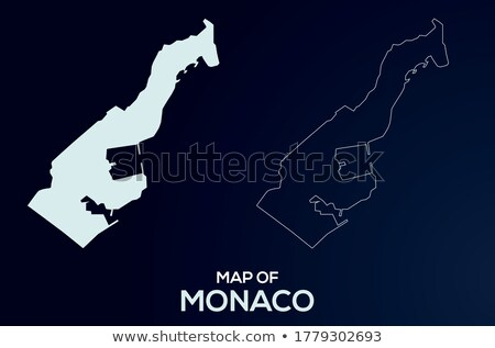 Monaco flag vector illustration isolated on modern background with shadow. Stock photo © kyryloff