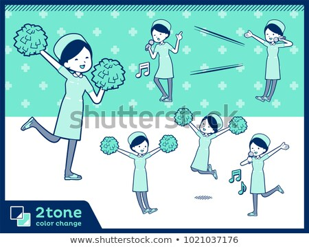 2tone type Nurse wear women_set 07 Stock photo © toyotoyo