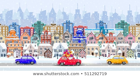 winter cityscape seamless stock photo © liolle