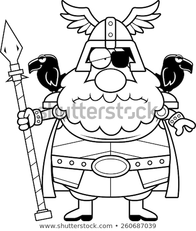 Stock photo: Sad Cartoon Odin