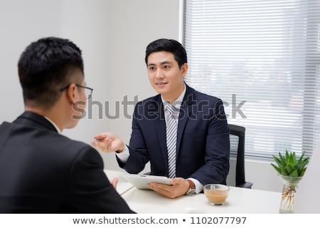 Two Businesspeople Looking At Each Other Stock photo © AndreyPopov