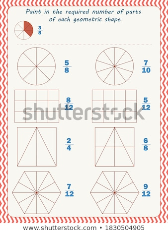 Paint  fraction  each shape  Stock photo © Olena