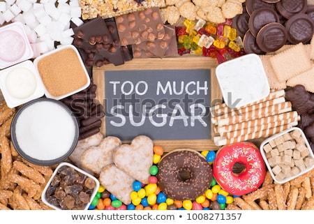 sugar cubes and text too much sugar Stock photo © nito