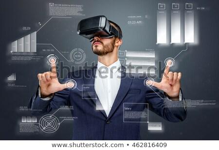 Virtual realidade conjunto dinheiro compras Foto stock © toyotoyo