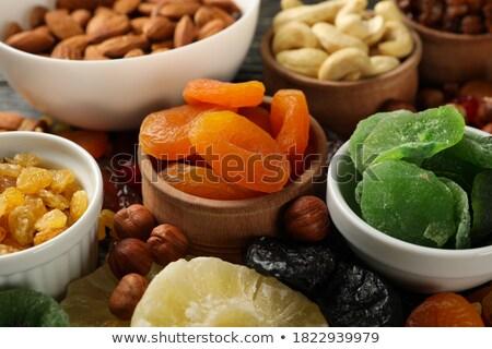 Сток-фото: экзотический · плодов · серый · деревянный · стол · ананаса