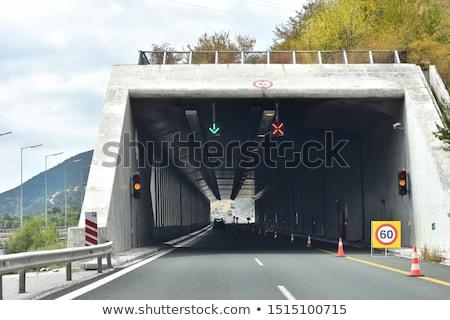 горные дороги Норвегия вход туннель небе Сток-фото © cookelma