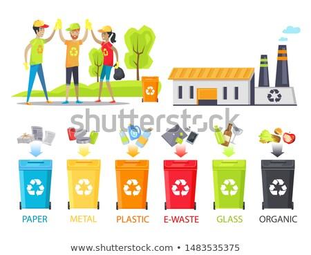мусор · рециркуляции · иллюстрация · органический · бумаги · пластиковых - Сток-фото © robuart