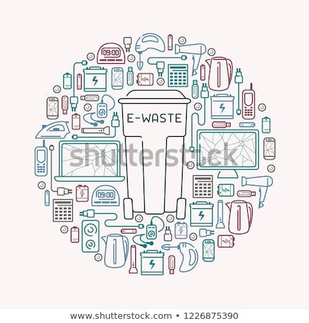 recycleren · elektronische · recycling · symbool · geïsoleerd - stockfoto © robuart