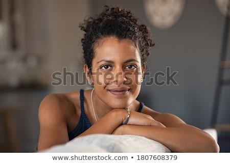 Retrato mulher câmera posando Foto stock © acidgrey
