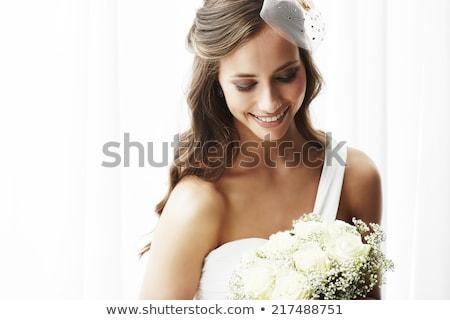 Image heureux jeune femme 20s cheveux longs Photo stock © deandrobot