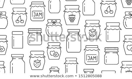 консервированный продовольствие малина плакат текста образец Сток-фото © robuart