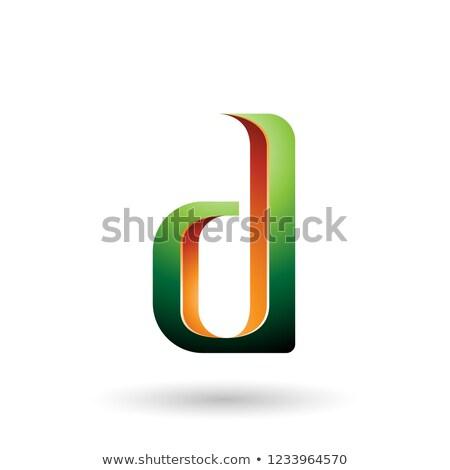Zöld narancs d betű vektor illusztráció izolált Stock fotó © cidepix