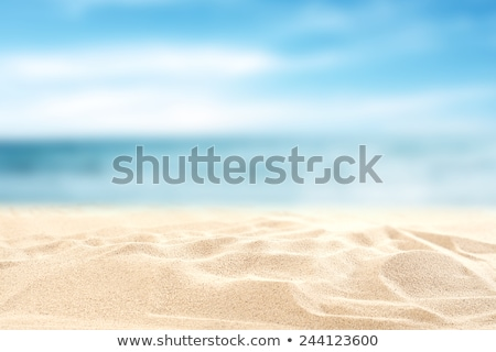 travel vacation photos on beach sand stock photo © karandaev