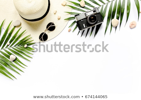 preparazione · viaggio · telefono · cellulare · occhiali · da · sole · passaporto · tavolo · in · legno - foto d'archivio © karandaev