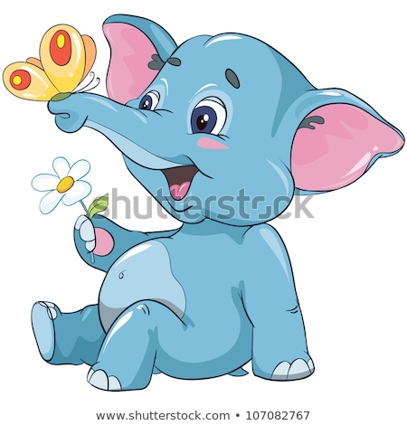 elefant · mare · desen · animat · mamifer · izolat · alb - imagine de stoc © marysan