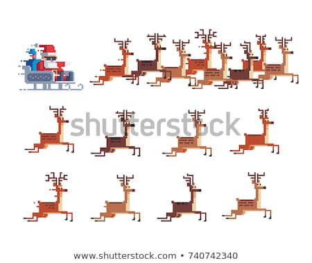 set of colored bags with christmas or new year gifts isolated on white background vector cartoon cl stock photo © lady-luck
