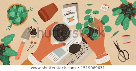 People Planting Cultivating Vector Illustration Stock photo © robuart