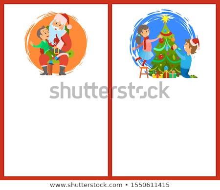 Gespräch dekorativ Weihnachtsbaum Winter Feiertage Stock foto © robuart