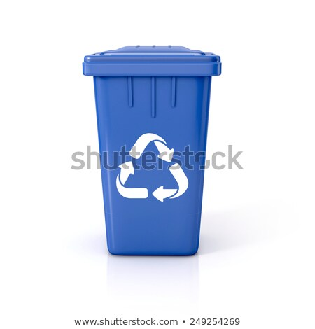 Recycle bins with text RECYCLING 3D Stock photo © djmilic