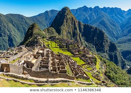 Inca ruinas Perú detalle sagrado valle Foto stock © boggy