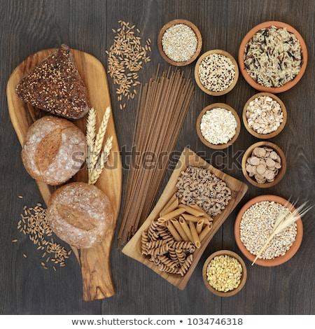 Bütün tahıl kurutulmuş spagetti makarna sağlıklı beslenme Stok fotoğraf © Lana_M