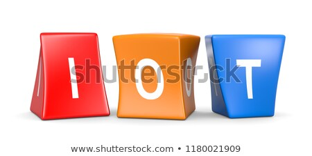 Divertente bianco testo colorato deformata Foto d'archivio © make
