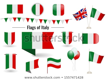 banner with two square flags of united states and italy stock photo © mikhailmishchenko