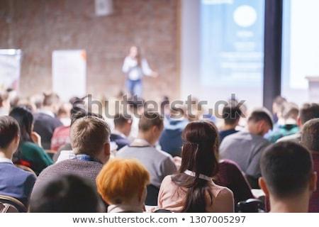 Estudiantes adultos grupo escuchar conferencia cuestión Foto stock © snowing