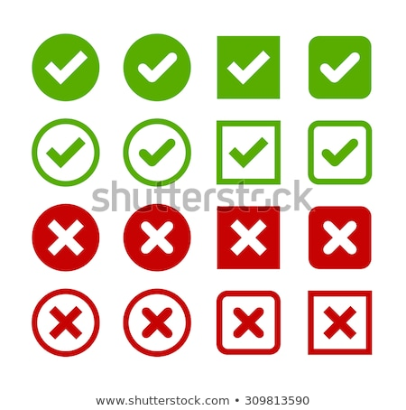 Illustration of check mark icon in square, vector illustration isolated on white background. Stock photo © kyryloff
