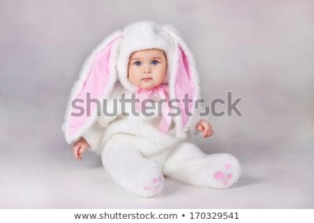 Cute weinig baby zoals Easter Bunny aanbiddelijk Stockfoto © Anna_Om