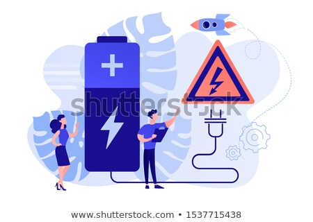 safety battery concept vector illustration stock photo © rastudio