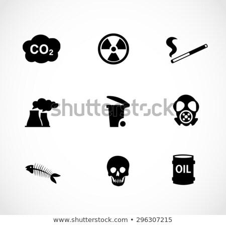 levegő · szennyezés · ipari · díszlet · sziluett · gyár - stock fotó © robuart